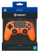Playstation 4 (PS4) Nacon Wired Compact Controller (Orange)