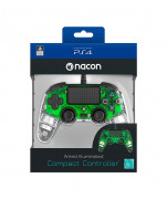 PlayStation 4 (PS4) Nacon Wired Compact Controller (Illuminated) (Verde)