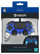 PlayStation 4 (PS4) Nacon Wired Compact Controller (Illuminated) (Albastru)