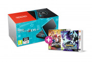 New Nintendo 2DS XL (Black-Turquoise) +Pokemon Ultra Moon + Mario Sports S