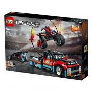 LEGO Technic Camion și motocicletă pentru cascadorii (42106)
