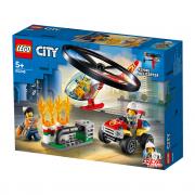 LEGO City Intervenție cu elicopterul de pompieri (60248)