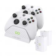 VENOM VS2871 Xbox Series S & X white double charging station + 2 acumulatoare