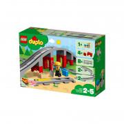 LEGO DUPLO Pod și șine de cale ferată (10872)