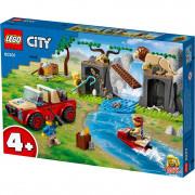 LEGO City Mașină de teren pentru salvarea animalelor sălbatice (60301)