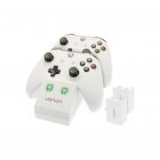 Venom VS2859 Xbox One Alb stație încărcare + 2 buc acumulatoare