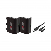 Venom VS2850 Xbox One Negru pachet acumulatoare (2 buc) + 2 metri cablu încărcare