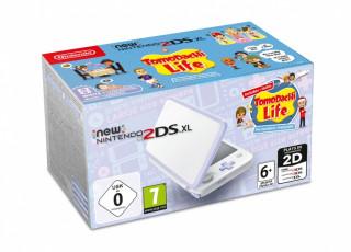 New Nintendo 2DS XL (Alb & Lavandă) + Tomodachi Life 3DS