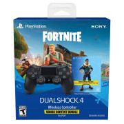 Playstation 4 (PS4) Dualshock 4 Controller (Negru) + Fortnite conținut bonus