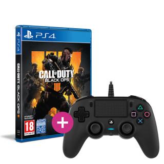 Call of Duty: Black Ops 4 + Nacon wired Controller (negru) PS4