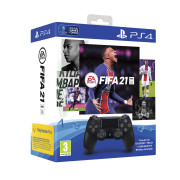 Playstation 4 (PS4) Dualshock 4 controller (Negru) + FIFA 21