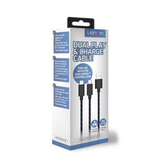 VENOM VS5002 Dual Play & Charge 3 metri Type-C -USB cablu alimentare PS5